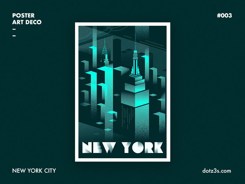 Art Deco Poster New York.Poster Art Deco New York 03 By Sergey Serebrennikov On Dribbble