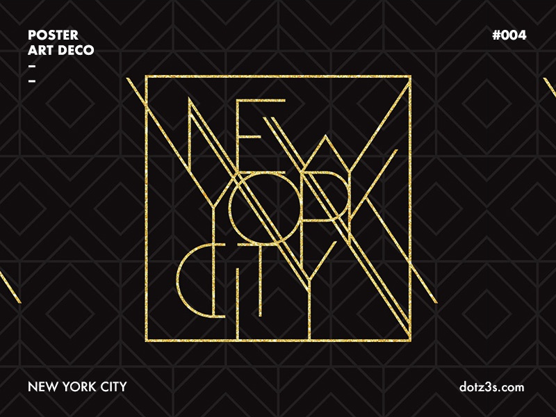 Art Deco Poster New York.Poster Art Deco New York 04 By Sergey Serebrennikov On Dribbble