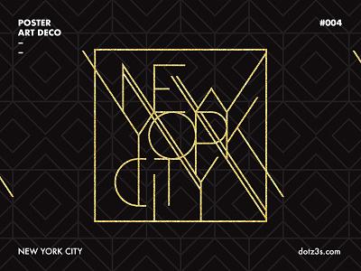 Poster Art Deco / New York 04 york poster night new illustration graphic deco city black art