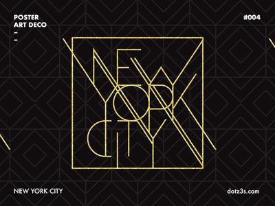 Poster Art Deco / New York 04