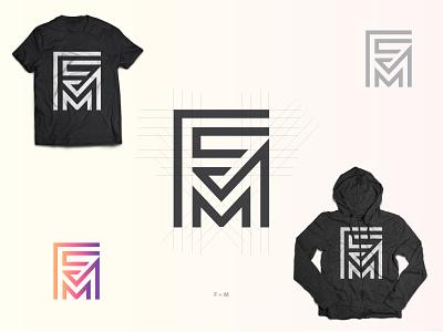 F&M Text logo design corporate identity fm typography branding vector design logo