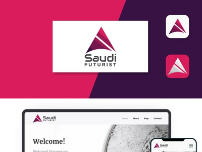 A Futuristic Logo design and presentation app art animation minimal typography illustration branding vector design logo