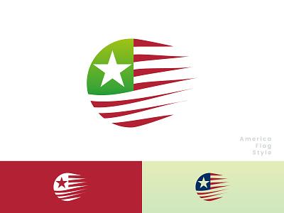 Flag style design of America minimal animation branding art vector icon ux illustration design logo