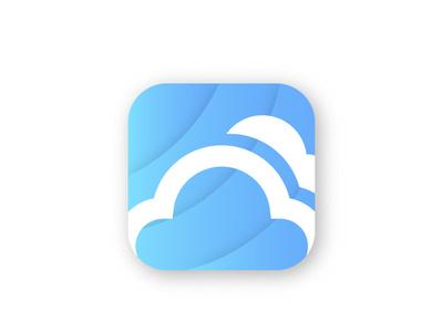 Cloud app icon ios animation illustrator type atiqurd minimal website web ui art flat app icon illustration vector ux dribbble dribble design logo