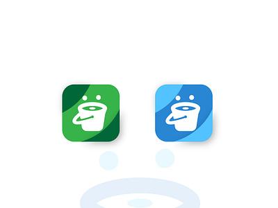 Bucket App icon clean app icon flat illustrator website minimal animation web bucket app branding ui art icon vector ux illustration dribble design logo