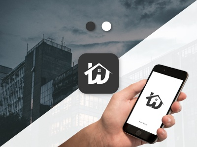 Real Estate App Icon ui art typography home dribbble real estate app icon ux illustration design logo