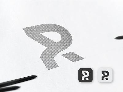 R & P Logo and app Icon appicon r icon p icon iconography typography app ui icondesign icon ux illustration design logo