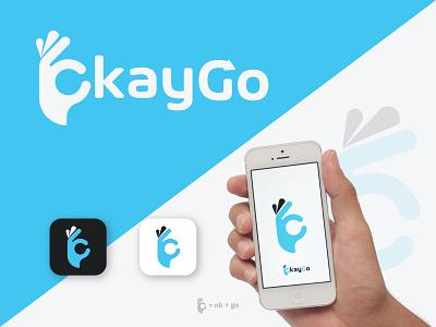 okaygo app icon illustration appicon ui hand ok okay flat app icon ux design logo