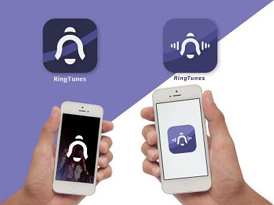 Ringtone App icon sound studio sound song record radio playlist artist hiphop ux music tune ringtone app ui icon illustration design logo