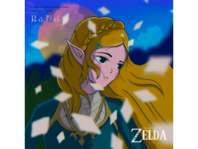Princess Zelda 2d legend of zelda videogame nerd zelda illustrator procreate diseño character animeart ipadpro characterdesign anime illustration