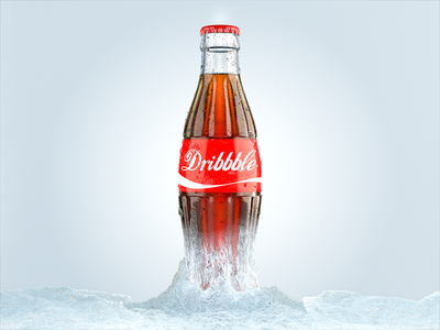 Let's Play coca cola liquid maya redshift blue ice shot product debut first coke 3d