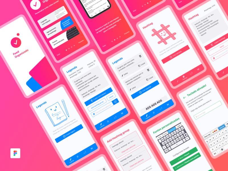 Feed Organizado | App UI brasil brazil app ui ux uiux ui design uidesign uiboost ui