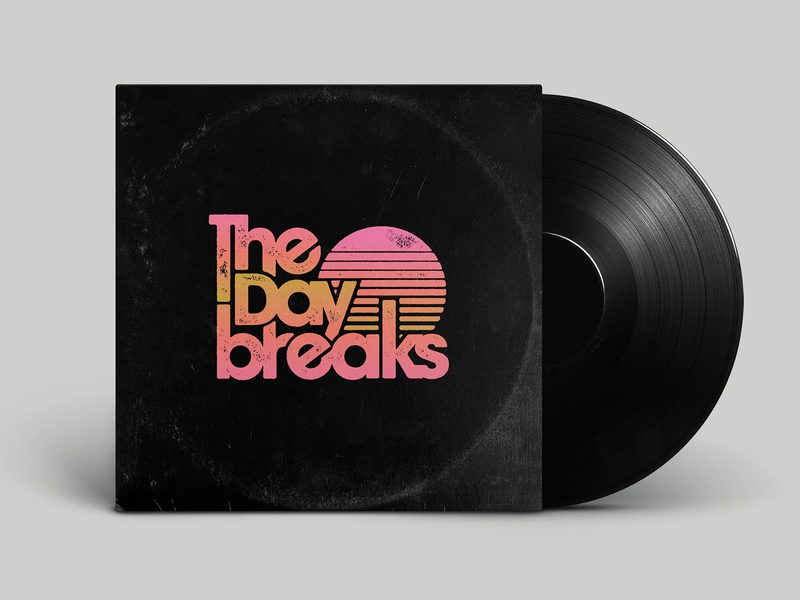 The Daybreaks band logo miami 1990s 1980s 1970s custom typography vinyl cover vinyl antique texture distressed record cover record avant garde sunset vice 90s 80s 70s retro music