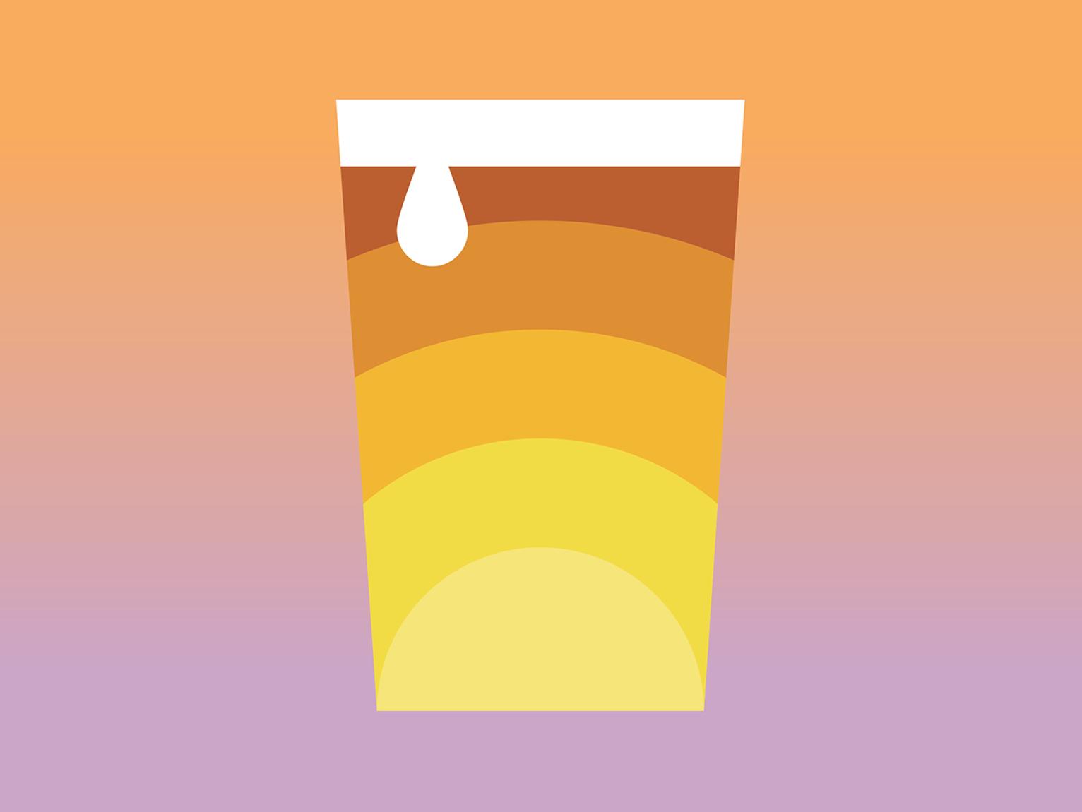 Summer sunsets beer branding beer art spring brewery warm beer can yellow orange pink beer label draplin flat sunrise sunset summer beer