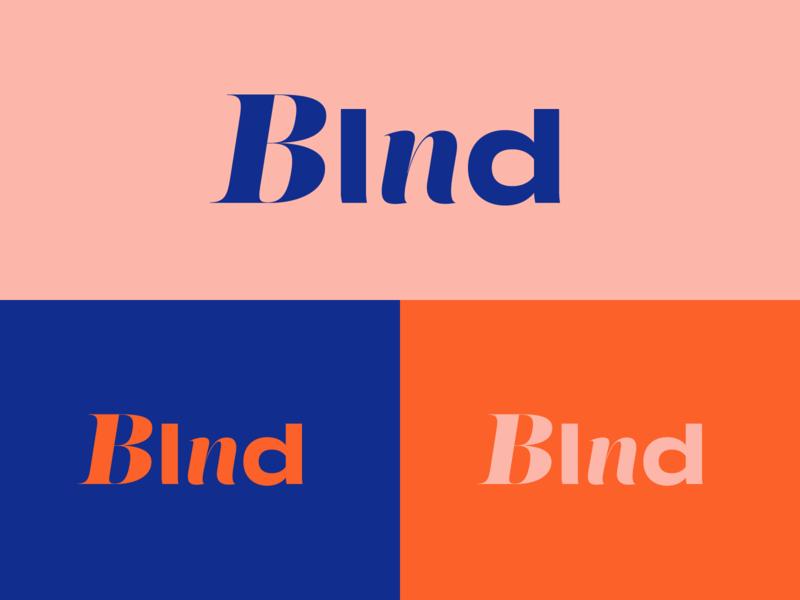Unused BLND Concept warm pink orange navy royal branding design melon mental health health logotype branding and identity logo branding