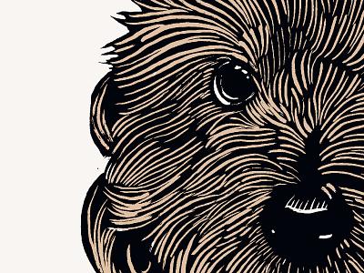 Walter & Mitty animal illustration puppy screenprint woodcut print woodblock print woodcut woodblock pet illustration pet dogs dog