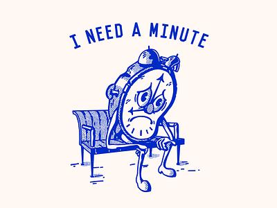 nervous ticks comic art comic mental health depression cartoon character branding color yellow blue white paper texture screentone halftone retro illustration retro mascot cartoon illustration