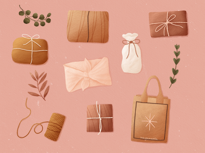 Eco-friendly gift wrap kraft eco bag bag texture happy zero waste happy new year ny christmas ecology wrap gift wrap
