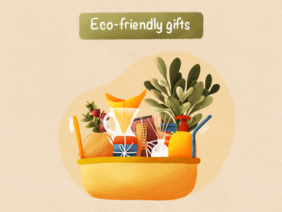 Eco-friendly gifts design illustration coffee flower re eco texture procreate zero waste reuse ecology recycle eco-friendly gifts