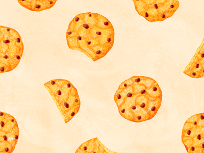Cookies Pattern eating eat food illustration cute colors pattern chocolate oat cookies oat milk oat cooking food cook design zero waste texture procreate ecology illustration