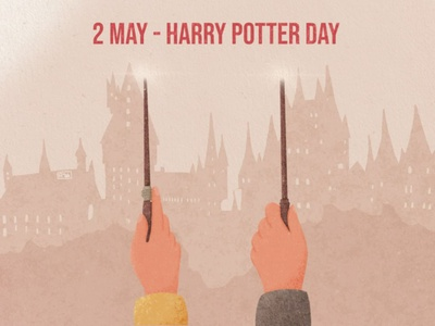 Harry Potter Day magic hands harryvector wends hogwarts design harrypotter malfoy severus snape harry potter harry texture procreate ecology illustration