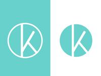k monogram logo