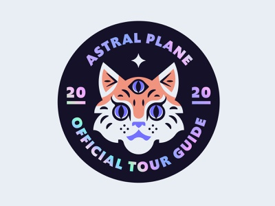 Astral Plane Tourguide badge astral cat holographic