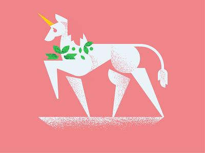 Unicorn pink fantasy horse unicorn animal illustration