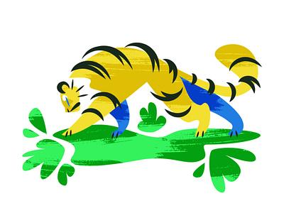 Tiger animal illustration cat tiger
