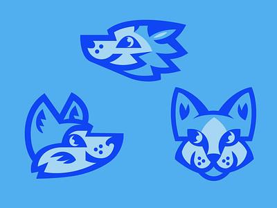 Little Wolves logo mascot dog wolf animal illustration