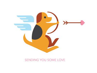 Beagle Cupid heart valentine cupid beagle