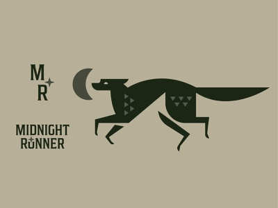 Midnight Runner run coyote moon star