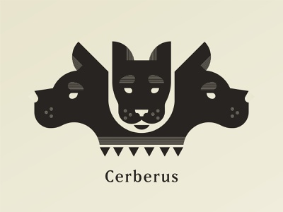 Cerberus graphic illustration greek mythology dog