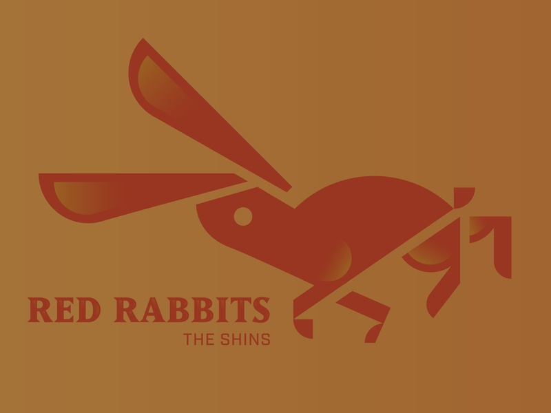 Red Rabbits red vector animal illustration hare rabbit