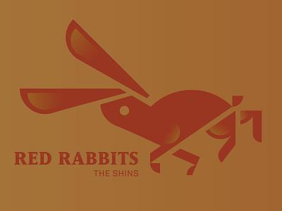 Red Rabbits red vector animal illustration hare rabbit