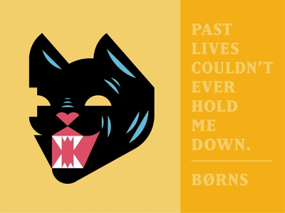 9 Lives meow design illustration animal black cat