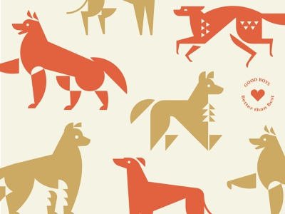 Good Boys (And Girls) illustration animal dog