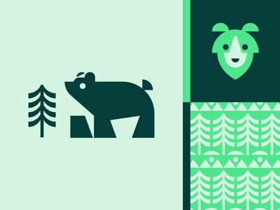 Bear With Me... green design illustration vector bear animal