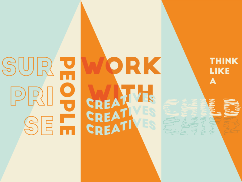 Reimagine our world typography design simple