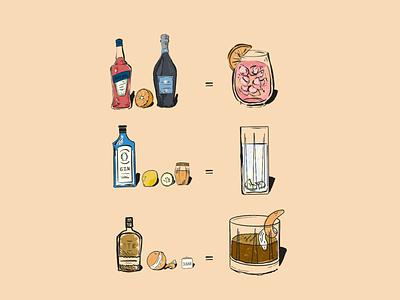 Bar Menu orange lemon fresh alcohol spritz happy hour bar drink