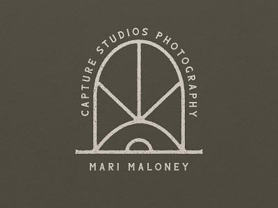 Capture Studio retro photography logo capture photography logo design simple branding logo