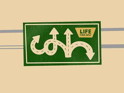 Life design roads life highways roadsign road illustration simple