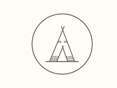 Teepee House logo graphic design flat ui uidesigner design uidesign webdesign minimal illustration logo adobe xd