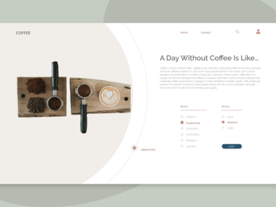 Coffee Shop | Order Page