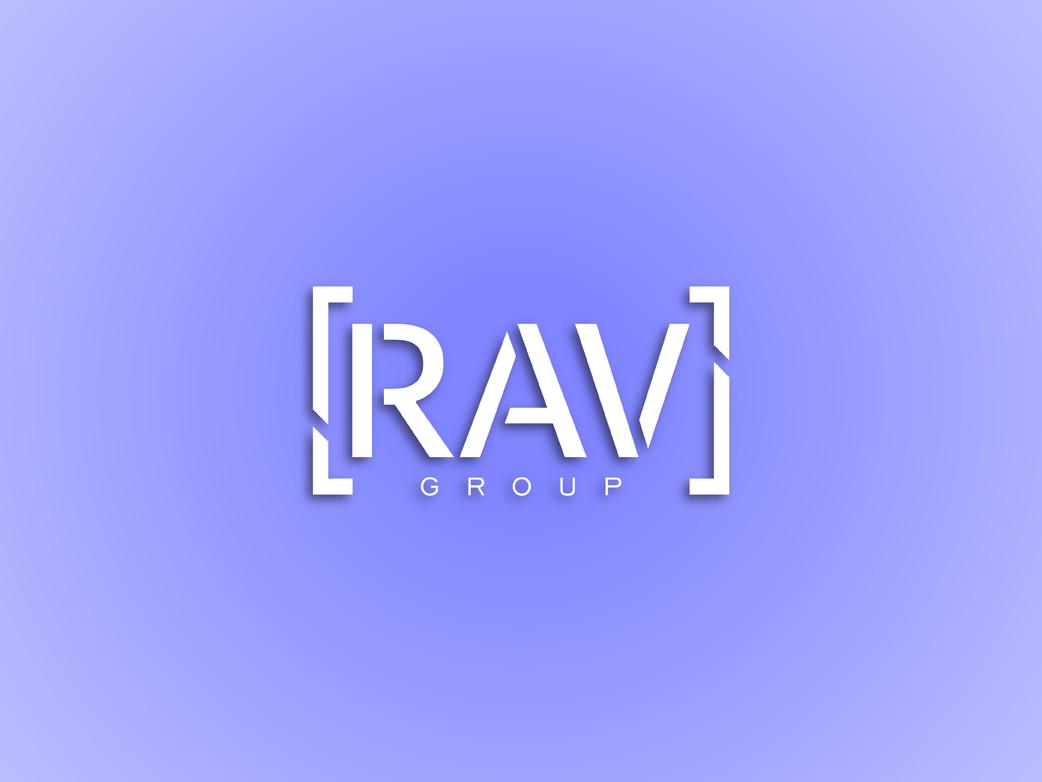 RAV group logo logo branding ui vector illustration design