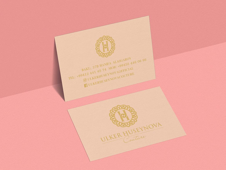 Ulker Huseynova Couture Visit Card ui typography flat illustration design