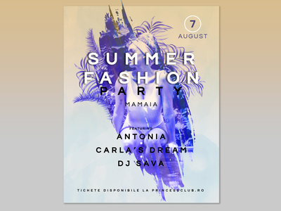 Fashion Summer Party Poster Concept summer summer party summer party flyer summer flyer party flyer party event fashion vlad cojocaru poster design poster art poster