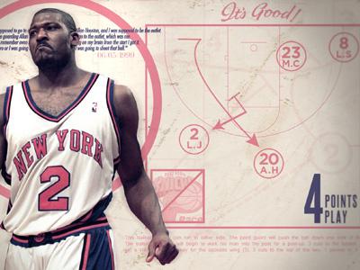 Larry Johnson 4 points play basketball typography grungy pink larry johnson nba