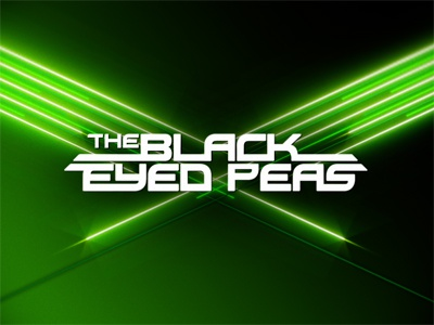 Black Eyed Peas  motion green glow black eyed peas