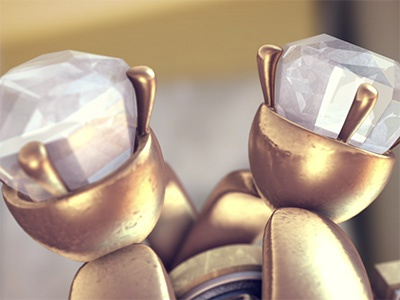 Don't tell the Bride Rings ring diamonds gold motion 3d after effects motion design element 3d